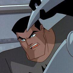 Bruce Wayne unmasked.