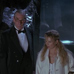 Alfred Pennyworth and Vicki.