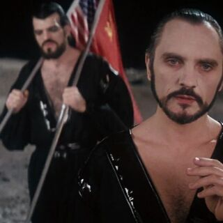 Non and Zod on the Moon.