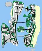 Karte von Vice City, 1986