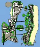 Karte von Vice City, 1984