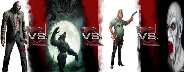 Image - Hunter vs Vamp... Zombie Vs Vampire Vs Werewolf