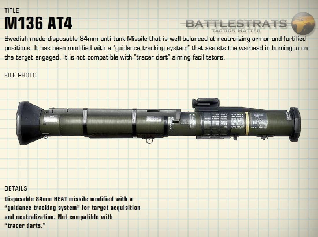 M136 AT4  Rocket Launcher Flashcards  Quizlet