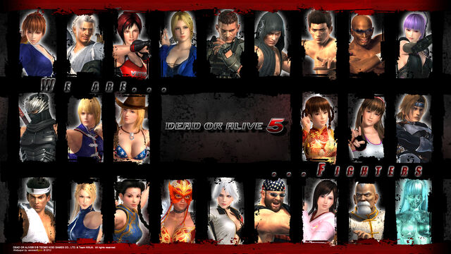 File:Doa5 character compilation wallpaper by werewolfgold-d5kr7y5.jpg