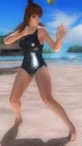 Phase-4 Black One-Piece Swimsuit Costume