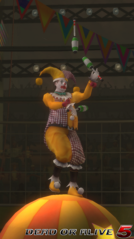 File:DOA5LR - The Show - Clown1 - screen by AdamCray and AgnessAngel.png