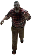 Dead rising zombie man fat plaid shirt