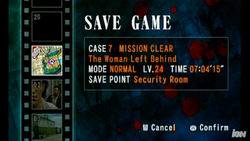 Chop save game screen