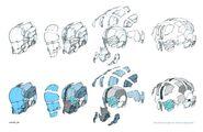 EVA Suit helmet components concept