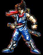 Strider - Strider Hiryu Artwork for the Famicom Version