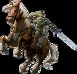The Legend of Zelda - Link riding Epona as seen in Twilight Princess