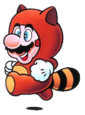 Super Mario Brothers - Mario in his Tanooki Suit as seen in Super Mario Brothers 3
