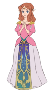 The Legend of Zelda - Of what Princess Zelda from The Adventures of Link would look like by current Zelda standards by an unknown artist