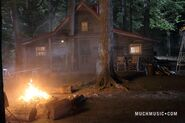The Fire Where Jake & Alli Kiss & Jake's Cabin