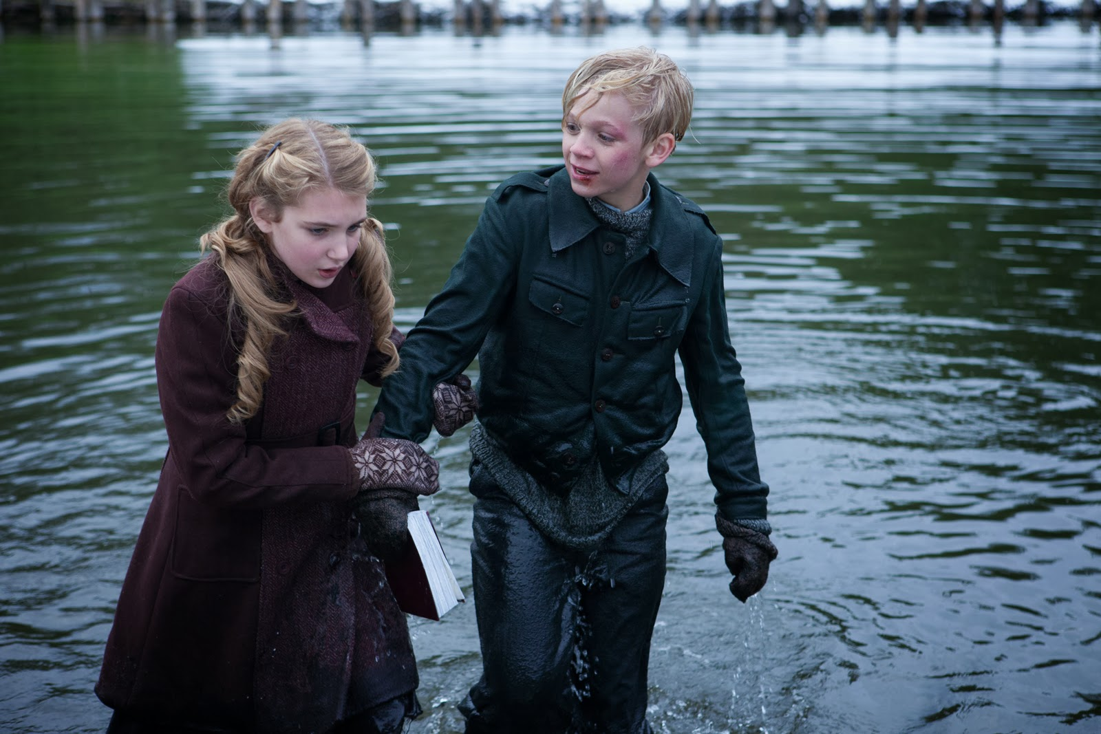 main characters of the book thief film vs book the book thief book  image sophie nelisse and nico liersch the book thief jpg file sophie nelisse and nico liersch