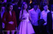 Bianca, Katie, Eli and Adam look horrified