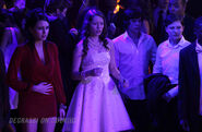 Bianca, Katie, Eli and Adam look horrified