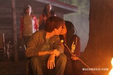 Jake & Alli Kissing & Clare & Bianca Watching