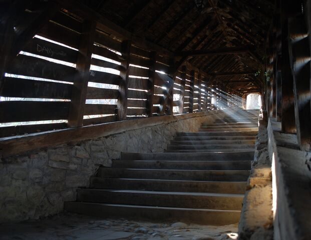 File:Sighisoara - covered staircase - inside view cropped.jpg