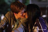 Jake & Alli Kissing Close-Up