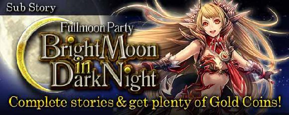 Bright Moon in Dark Night Banner