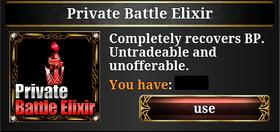 Private Battle Elixir