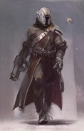 Concept art of Warlock and Ghost