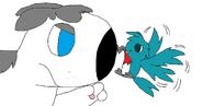 Di'angelo's not happy with that hummingbird... - Copy - Copy - Copy - Copy