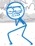 DFTM- Blue choking on the fart