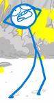 DFTM- Blue panicking on the island 3
