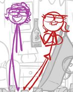 Burgundy and Scarlet 1