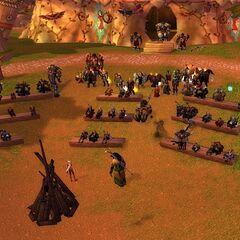 Die grosse Versammlung.