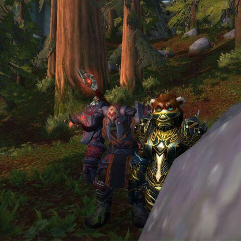 Der Orc und sein Panda.