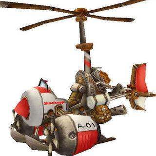 Umgebauter Gyrocopter für den Einsatz der eiligen Arznei