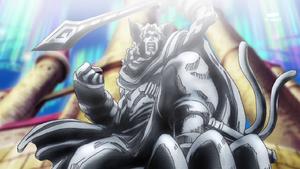 6-11 Beastmon statue