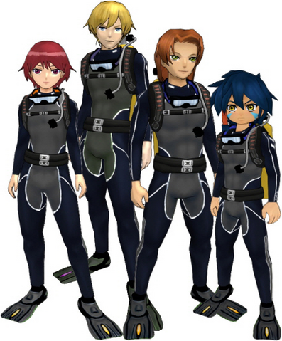 "File:Marcus Damon, Thomas H. Norstein, Yoshino ""Yoshi"" Fujieda, and Keenan Crier (Black Scuba Suits) dm.png"