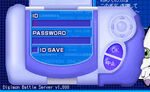Digimon Battle Server Login Screen