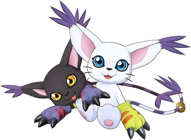 File:Gatomon and BlackGatomon (Cyber Sleuth) b.jpg