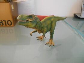 Schleich green tyrannosaurus
