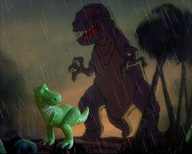 Rex e il tirannosauro di Fantasia