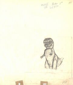 Drawing of T-rex 3