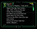 Doctor's Papers, Time shift 1
