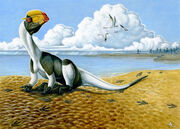 Dilophosaurus restoration