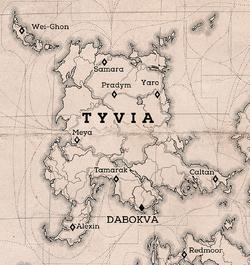 Tyvia on D2 map