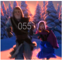 Anna and Kristoff Running