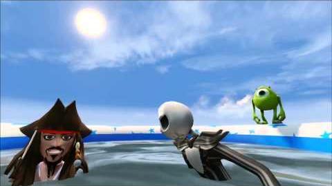 Infinity Machine - Mike, Jack Skellington, Jack Sparrow, Splash Pool