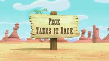 Peck Takes it Back title card