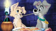 Lady and the Tramp 2 Promotional Images - 5 with Angel and Scamp