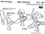 Bonkers Concept Art - Head