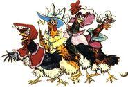Chanticleer Hens